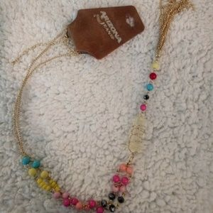 💕💕Cute gold/multi colored tassel necklace💕